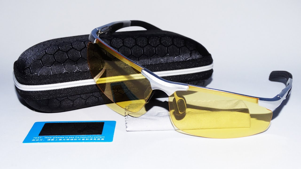 bdcc20edb Teste Estrada Noite Óculos Nigth Drive Lentes Amarelas Polarizadas UV400