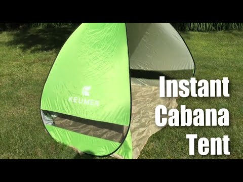 Keumer G4Free Outdoor Instant Automatic Pop up Portable 2 person Cabana Beach Tent from YouTube · Duration:  4 minutes 7 seconds