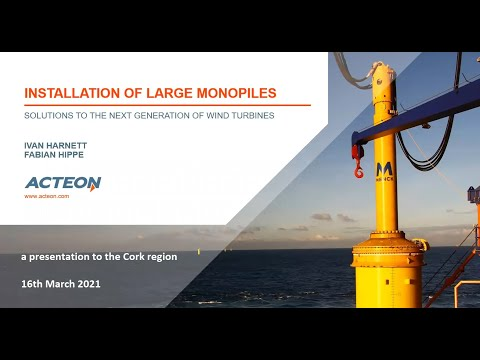 Installation of large monopiles as offshore wind foundations using impact hammers or drills