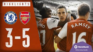 Download VAN PERSIE WITH A HAT-TRICK | Chelsea 3 -5 Arsenal | Classic Highlights 2011