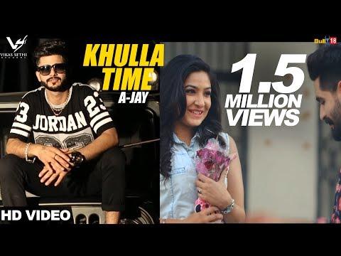 Khulla Time  A-jay  Desi Crew  Jaggi Kharoud  Latest Punjabi Songs 2016  Vs Records