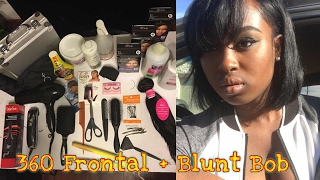blunt bob wig a 360 frontal   best tea bag method