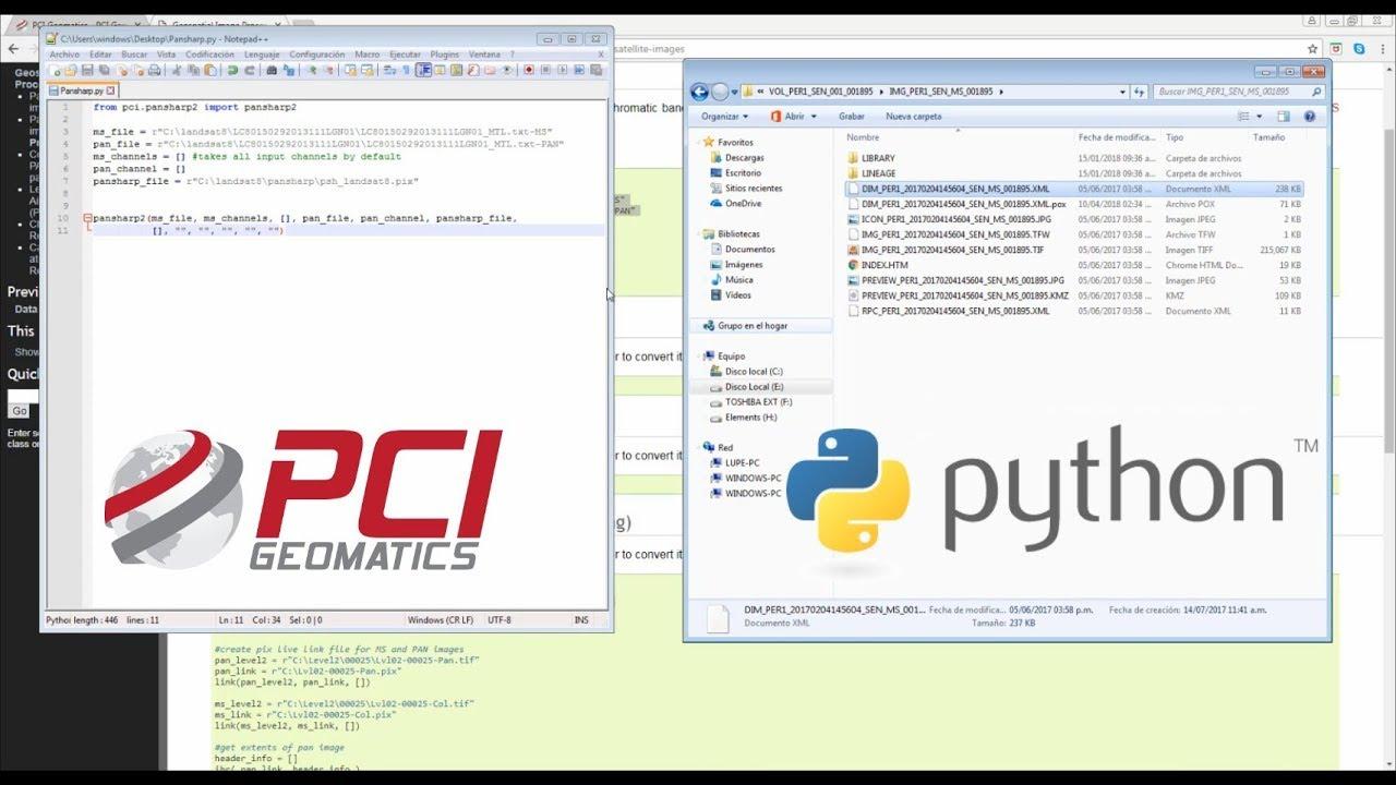 Procesamiento de escenas PeruSAT-1 en Python - Pansharpening