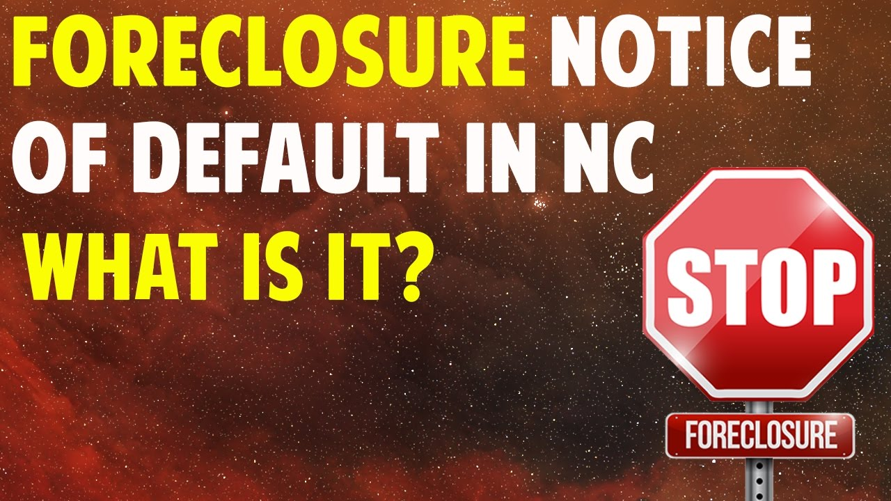 Foreclosure Notice of Default in NC - (336) 777-7172 Sell My House Quick Winston Salem