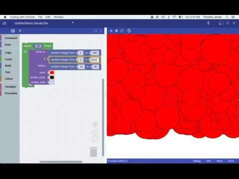 Using Blockly to Draw Pictures in Coding with Chrome - YouTube