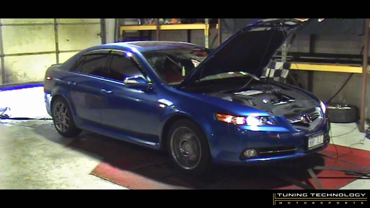 tuning technology 2008 acura tl type s stock dyno youtube. Black Bedroom Furniture Sets. Home Design Ideas