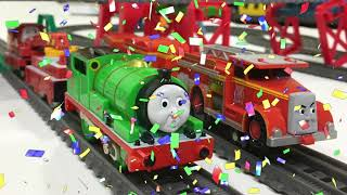 Percy VS Flynn Thomas & Friends Racing on TrackMaster Sets with Keith