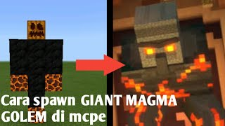 Cara spawn GIANT MAGMA GOLEM di mcpe