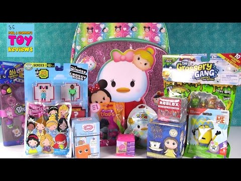 Thumbnail: Disney Tsum Tsum Slitherio Trolls Shopkins Roblox Surprise Backpack Toy Opening | PSToyReviews