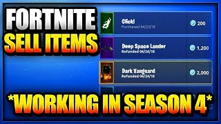 "NEW How To Fix ""REFUND SKINS"" and Sell Your Items in Fortnite Battle Royale PS4 Xbox = Free V bucks"