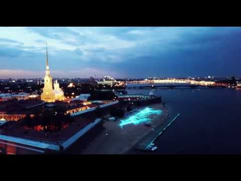 Flight over Central Saint Petersburg during White Nights | Drone flights in Russia
