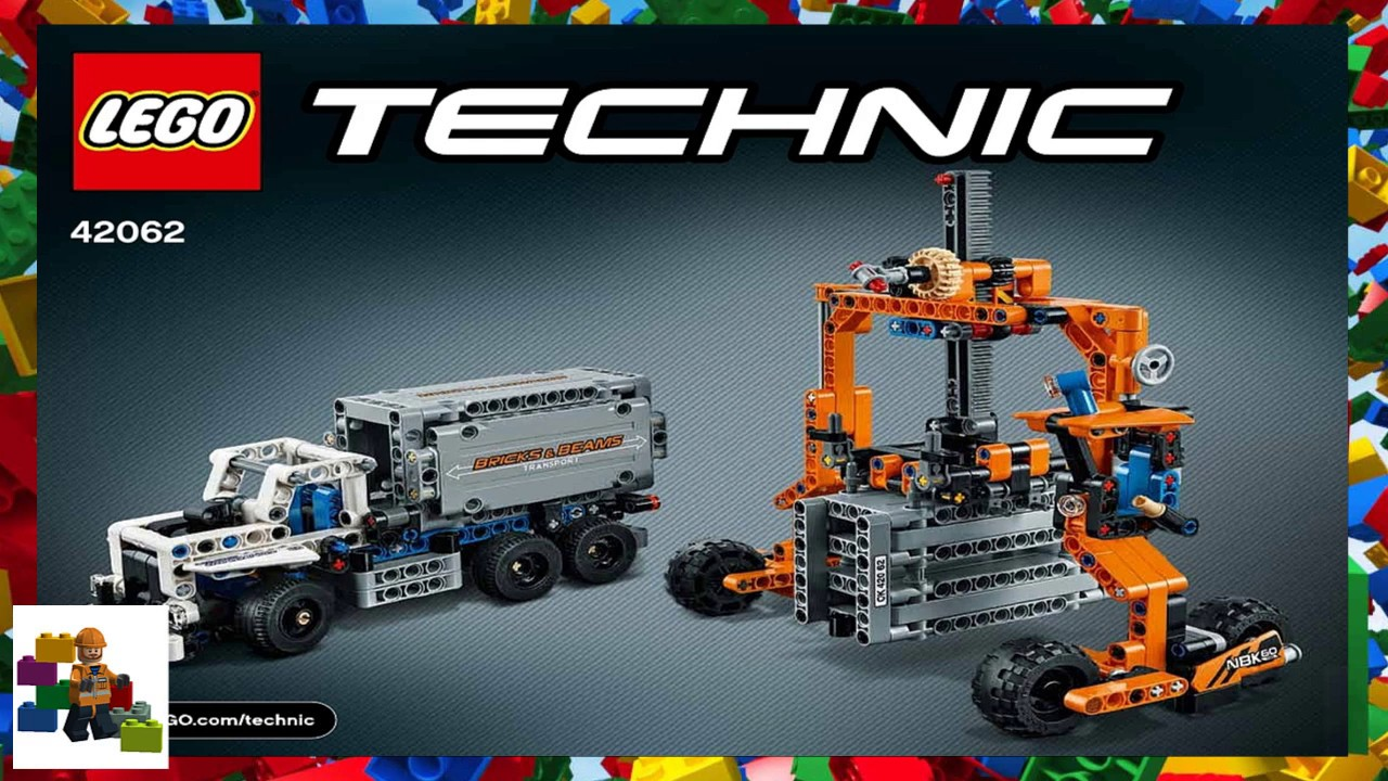 Lego Instructions Technic 42062 Container Yard Book 2 Youtube