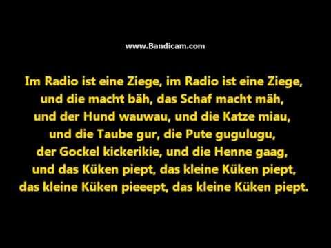 Im Radio ist ein Küken lyrics :'D