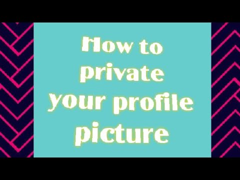 How to private your profile Pictures (tagalog)