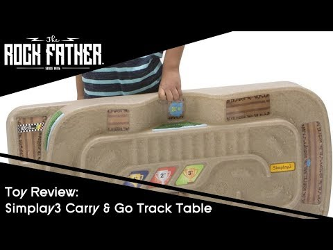 Toy Review: The Simplay3 Carry & Go Track Table - The Perfect Playset for Cars, Trucks and Trains!