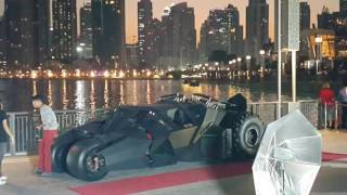 Batmobile at Burj Khalifa in Dubai on Christmas day 25.12.2016
