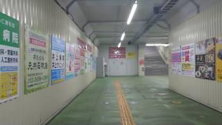 東武スカイツリーライン竹ノ塚駅改札内~2番線 7両編成1号車