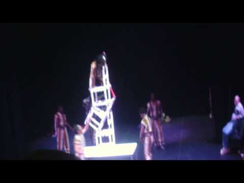 The Jabali African Acrobats chair trick