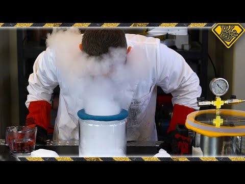 Dry Ice In A Vacuum Chamber