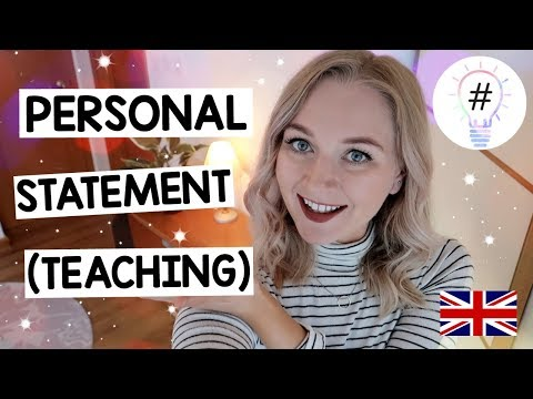 Writing A PERSONAL STATEMENT For Primary Teaching UK
