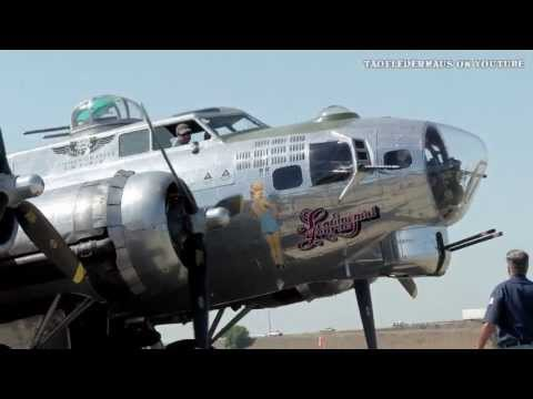 B17 Bomber Start up and Take off