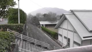 福岡県飯塚市の嘉穂高校の弓道場。このあたりに竪坑櫓があった。Japanes...