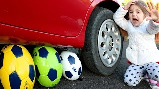 Calcio Finito Male Masha's balls Balls Сrushed Under Car Wheel of Reckless Ameli tvit