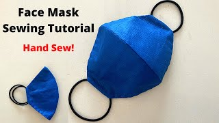 MAKE FABRIC FACE MASK AT HOME Easy Sew Mask with Hair Ties Best Protective Mask