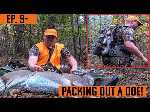EP. 9- PACKING Out A DOE On PUBLIC LAND! ALABAMA DEER HUNTING