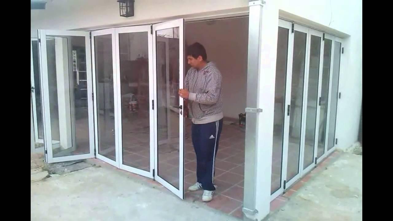 puertas plegadizas plegadizas 2 0 youtube