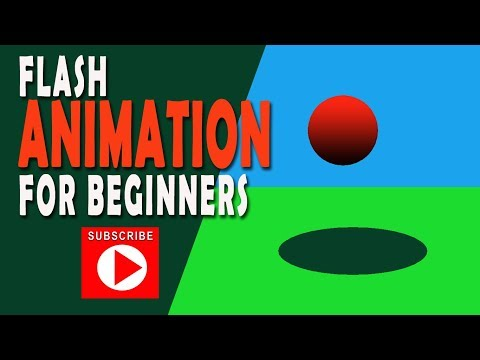 Adobe Flash Tutorial II How to create a bouncing ball animation using Adobe Flash for Beginners thumbnail