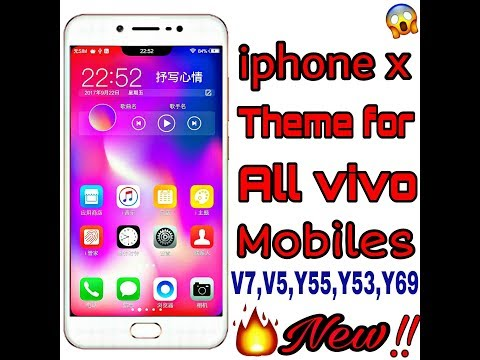 How to download iphone x theme for all vivo mobiles ` New theme` Latest By  Tech boys