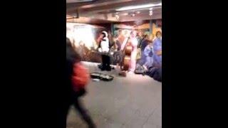 2 crazies in subway