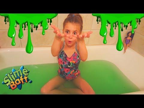 SLIME BATH 🛁 CHALLENGE! Kids Slime Bath Fun I Kids Slime Bath Fun