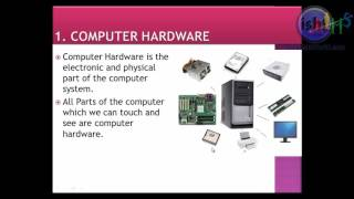 1 COMPUTER HARDWARE PART ONE 1 In Hindi / Urdu