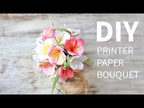 free-template:-how-to-make-paper-bouquet-of-plumeria-from-printer-paper,-so-easy