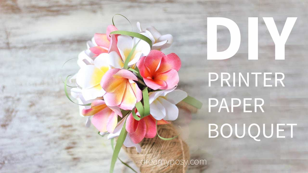 free paper flower template
