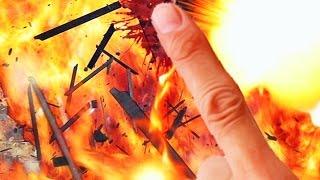 THE ULTIMATE FINGER DESTRUCTION! - FINGER VS GUNS! (Flash Game)