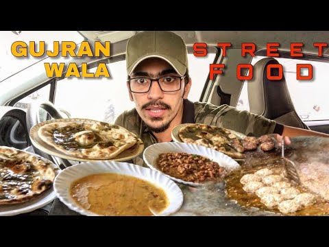 PAKISTANI STREET FOOD OF GUJRANWALA - OONT KI TIKIAN OR PODINAY VALI ROTI