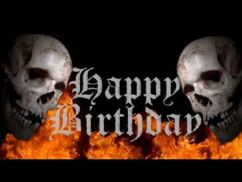 Happy birthday [Heavy Metal Skull] Free Musical Ecard [Horror]