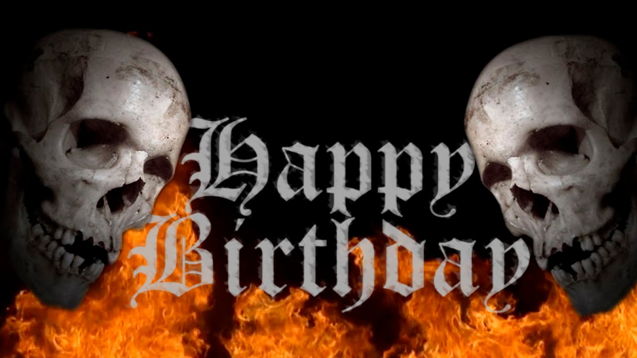 Happy Birthday Heavy Metal Skull Free Musical Ecard Horror