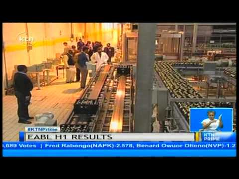 Beer maker East African breweries announce 12% rise in its first half pretax profit.