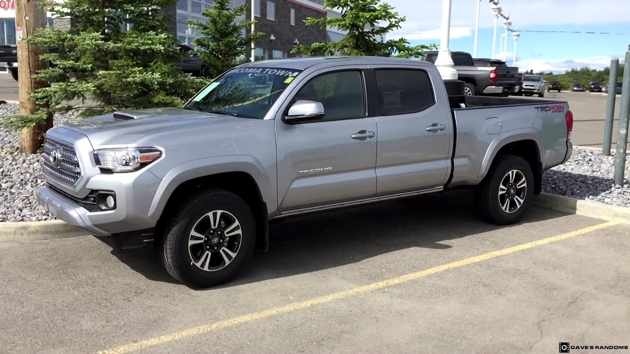 2016 Toyota Tacoma Double Cab Trd Sport Long Bed In Silver