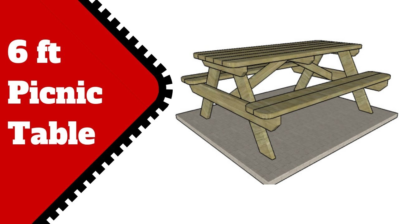 6 Ft Picnic Table Plans Youtube