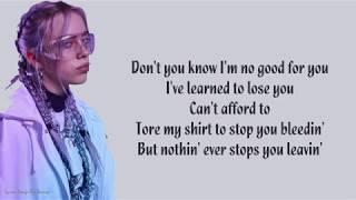 Billie Eilish - When the party's over | Lyrics Songs
