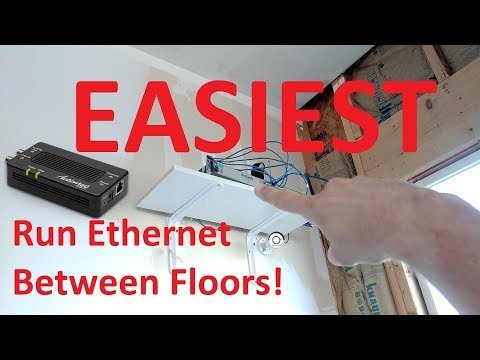 EASIEST Most RELIABLE Way to Get Ethernet From Basement to Upstairs, & Anywhere!