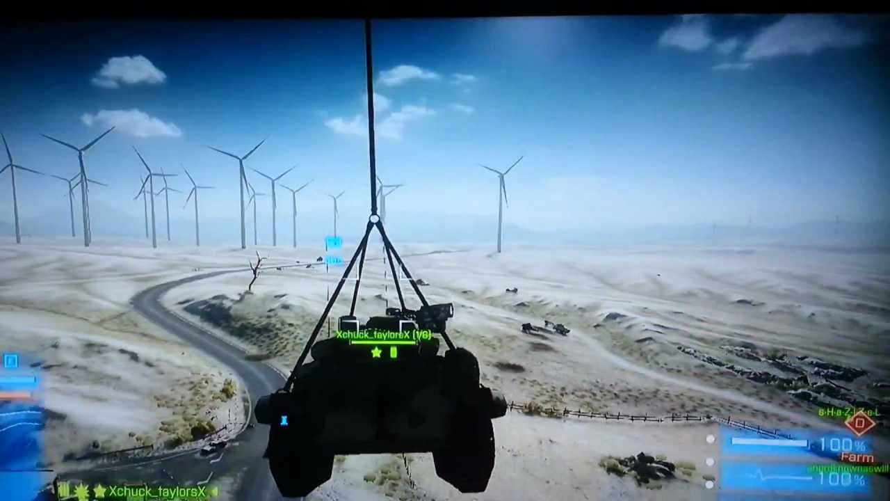 BF3 End Game Tank Parachute Out Of Gunship YouTube