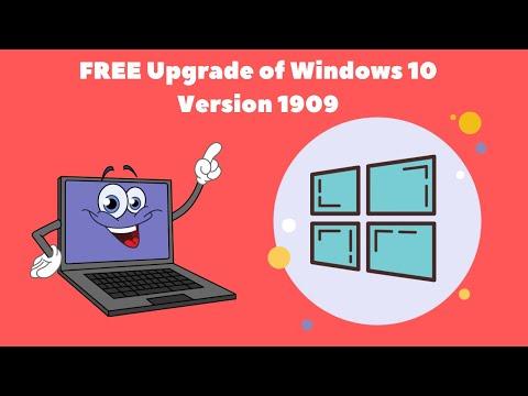 FREE Upgrade Of Windows 10 Version 1909