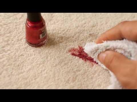 Как отстирать лак для ногтей