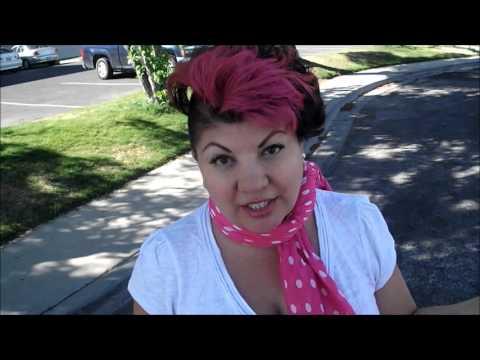 Biker Chick Tip Haircut - YouTube